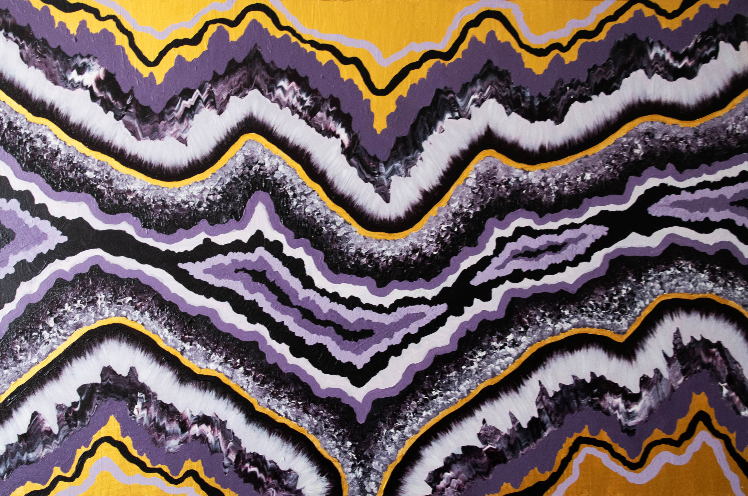 "Geode #1 - Acrylic on Canvas36""x24""Semi Gloss Finish$300"