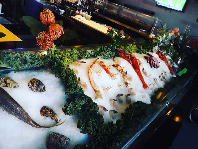 Check out our awesome raw bar featuring Maine Lobster, Blue Point & Kumamoto Oysters, fresh Octopus and Cedar Key Clams