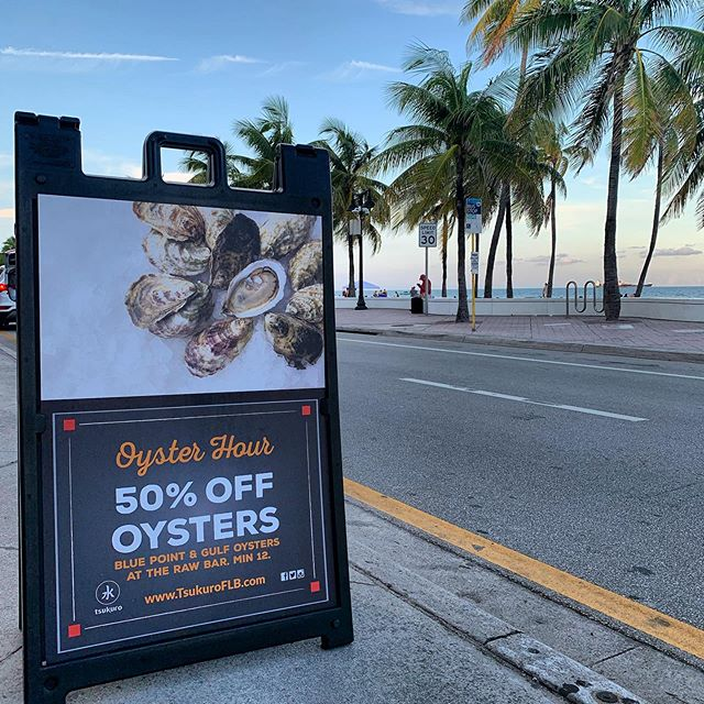 Join us for happy hour 50% on oysters  #seafood #fortlauderdalefoodies #fortlauderdalebeach #foodlovers #miami #oysterlovers #florida