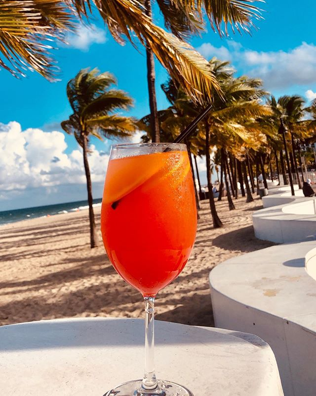 Come and enjoy our new drinks!  Aperol Twist🍹#tsukuro #fortlauderdale #drinks #beach