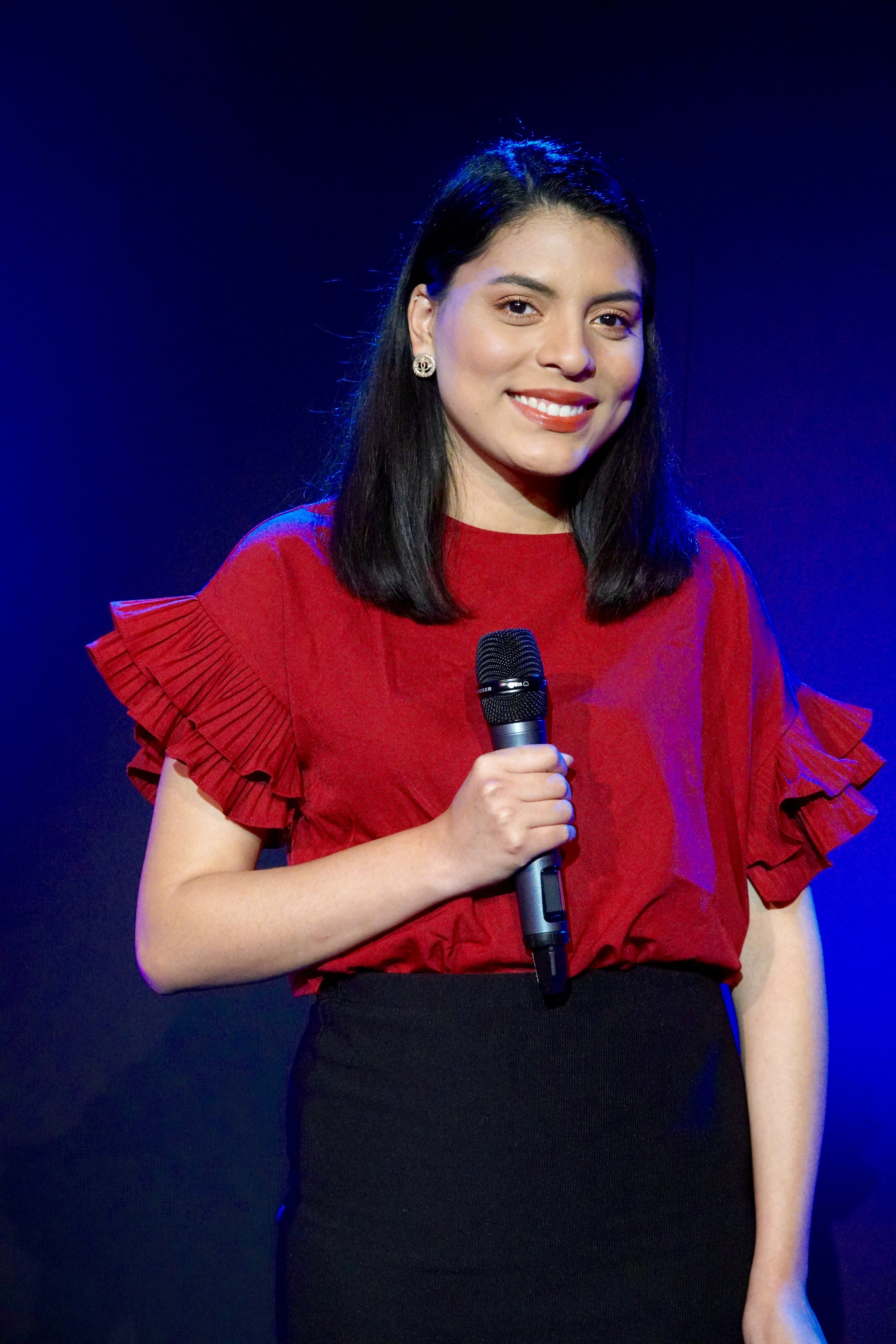 Maria Meza - Maria Meza is a Communications & Media Technologies major with a minor in Fashion Journalism at Academy of Art University. She has always dreamed of being on camera, which pushed her to create her own content on YouTube, AGMM. She hopes to inspire others by showing how to be yourself and not be afraid to show your talents to the world. In the future, she hopes to become a television host for an entertainment company and host events such as red carpet ceremonies and award shows.