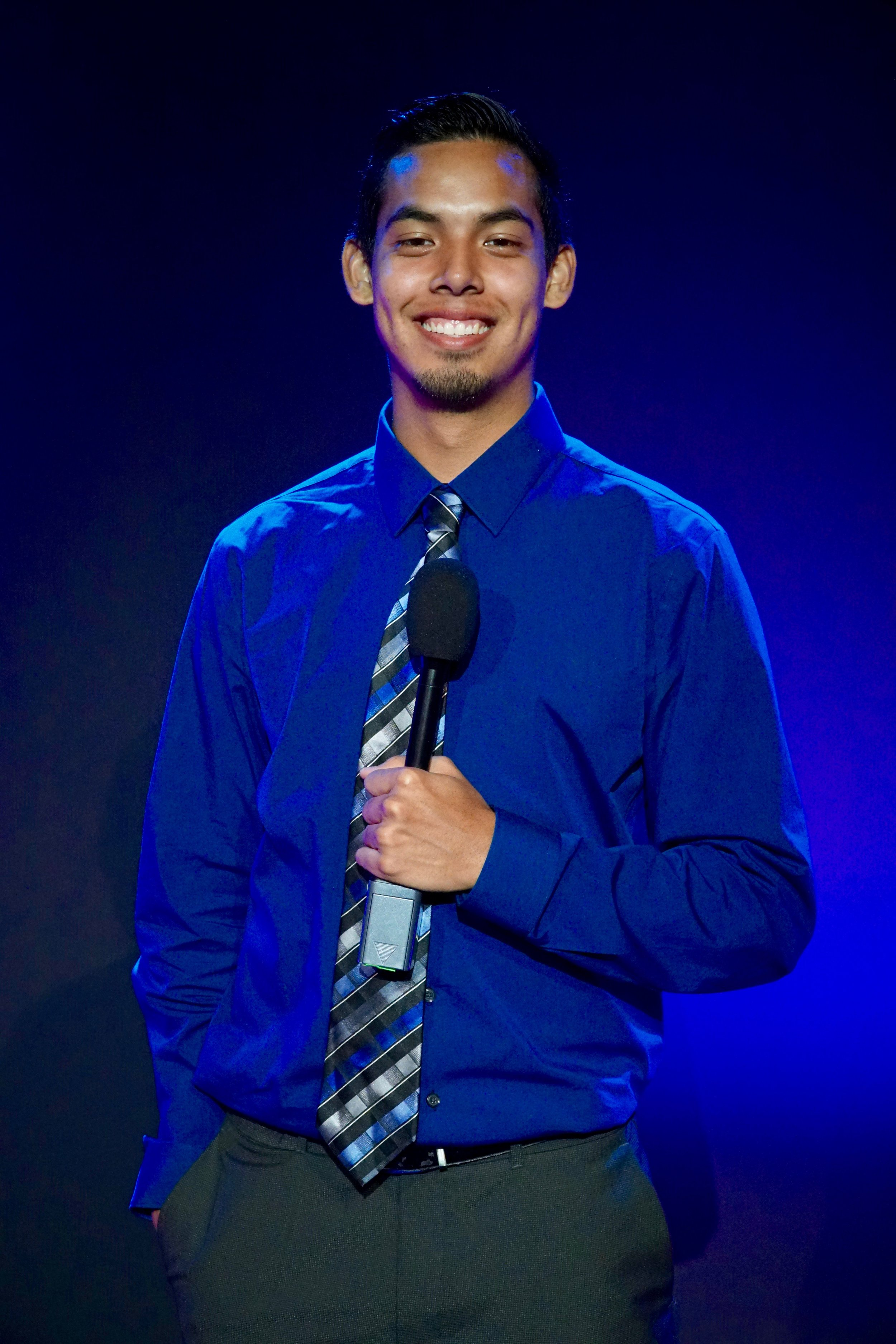 Gonzo Rios - Gonzo Rios is a senior in Communications & Media Technologies. He's passionate about sports, playing every kind of game since the age of 3. When he's not playing sports, he's playing video games. This is his first time hosting a live show, but he has appeared on camera many times, never getting nervous. He wants to use this opportunity to advance his own host skills to become even more comfortable on stage.