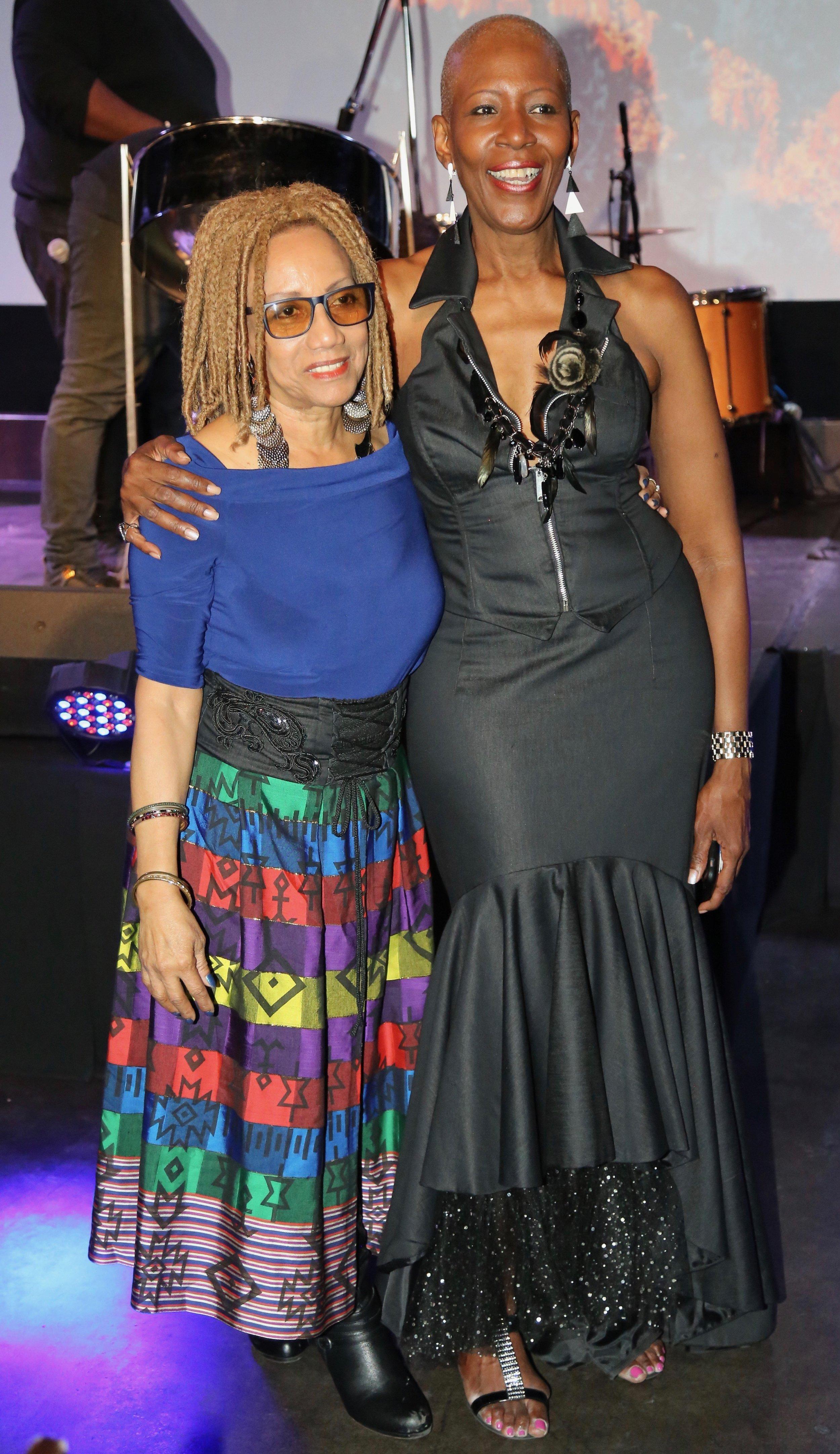 """With designer Julia Baptiste Johnson of De Baptiste Collection at the Musical Tribute for Ken 'Professor"""" Philmore at MIST Harlem"""