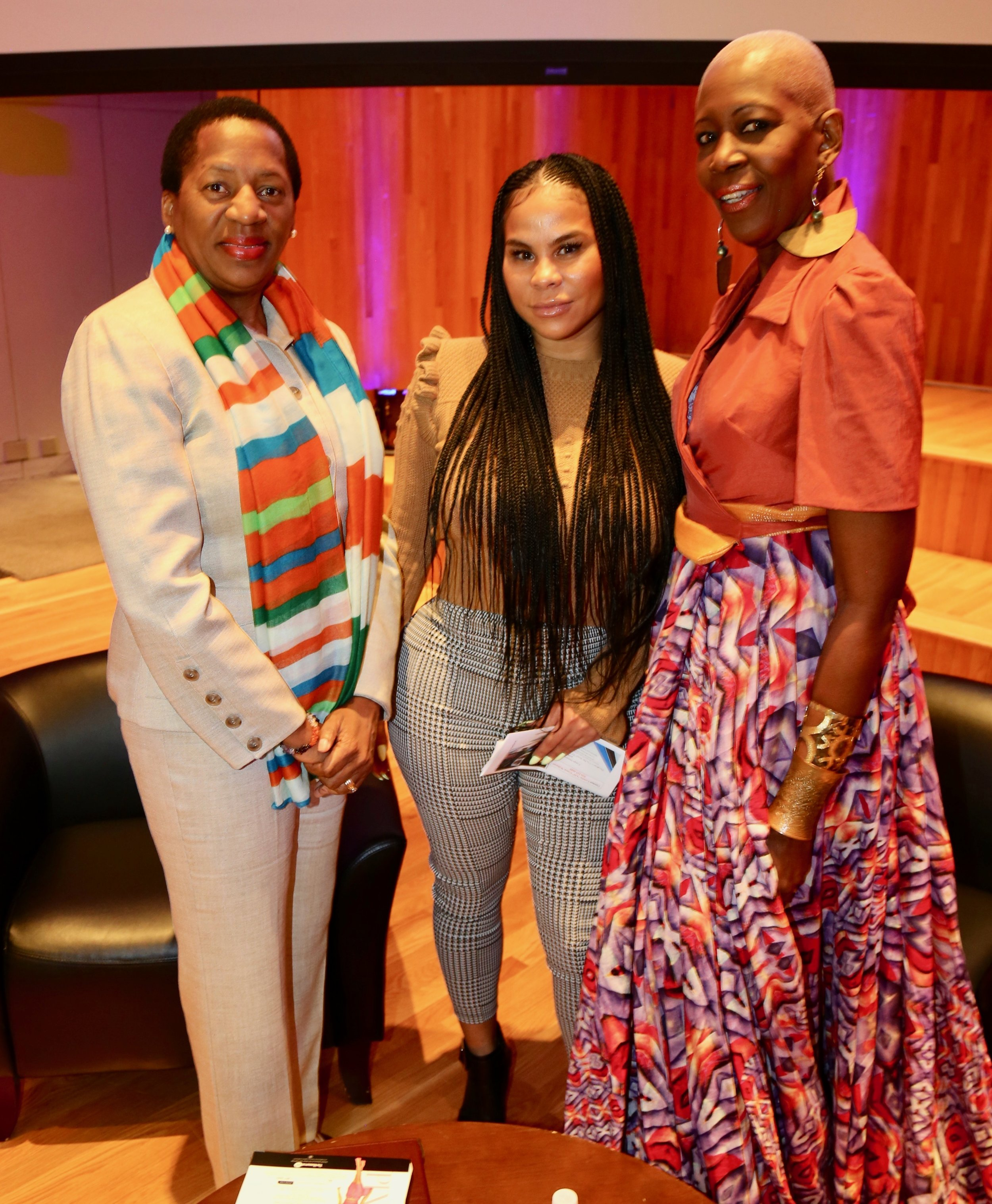 With Representative of T&T to UN, Penelope Beckles and designer, Nikhol Hing at FIT