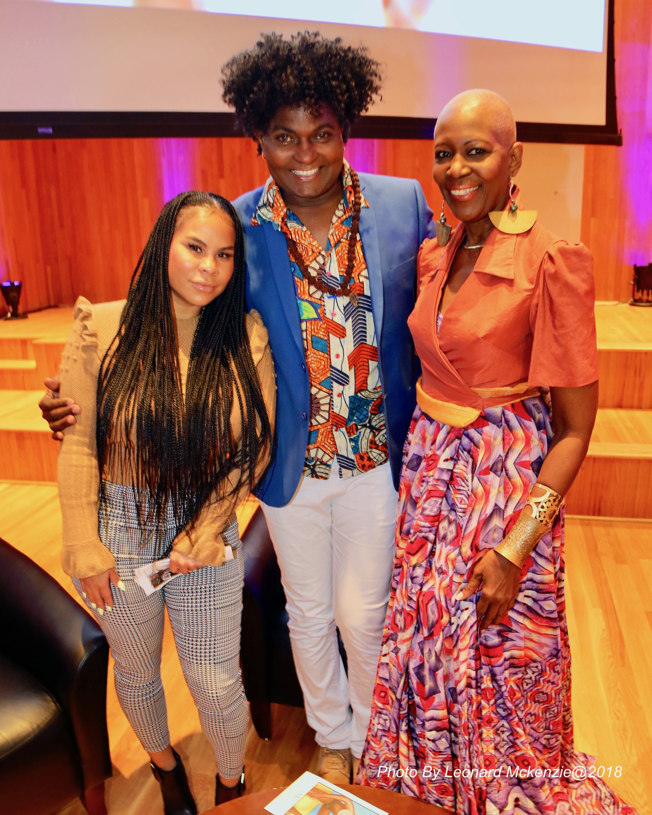 With designer, Nikhol Hing and Richard Young at What is Caribbean Fashion panel discussion at FIT