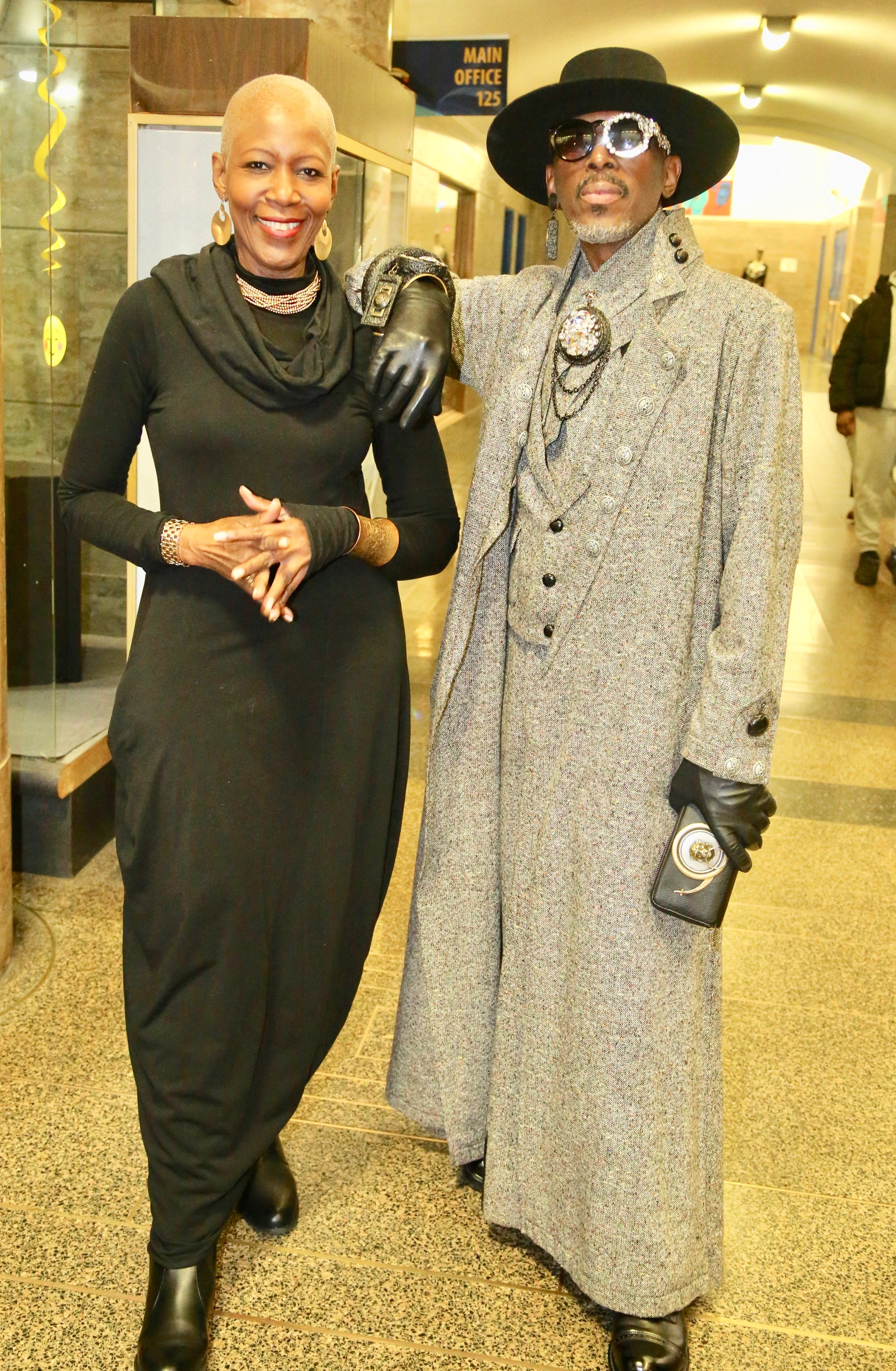 With Phil Harris, fashion & accessories designer at D'Marsh Couture fashion show.Photo by Leonard McKenzie