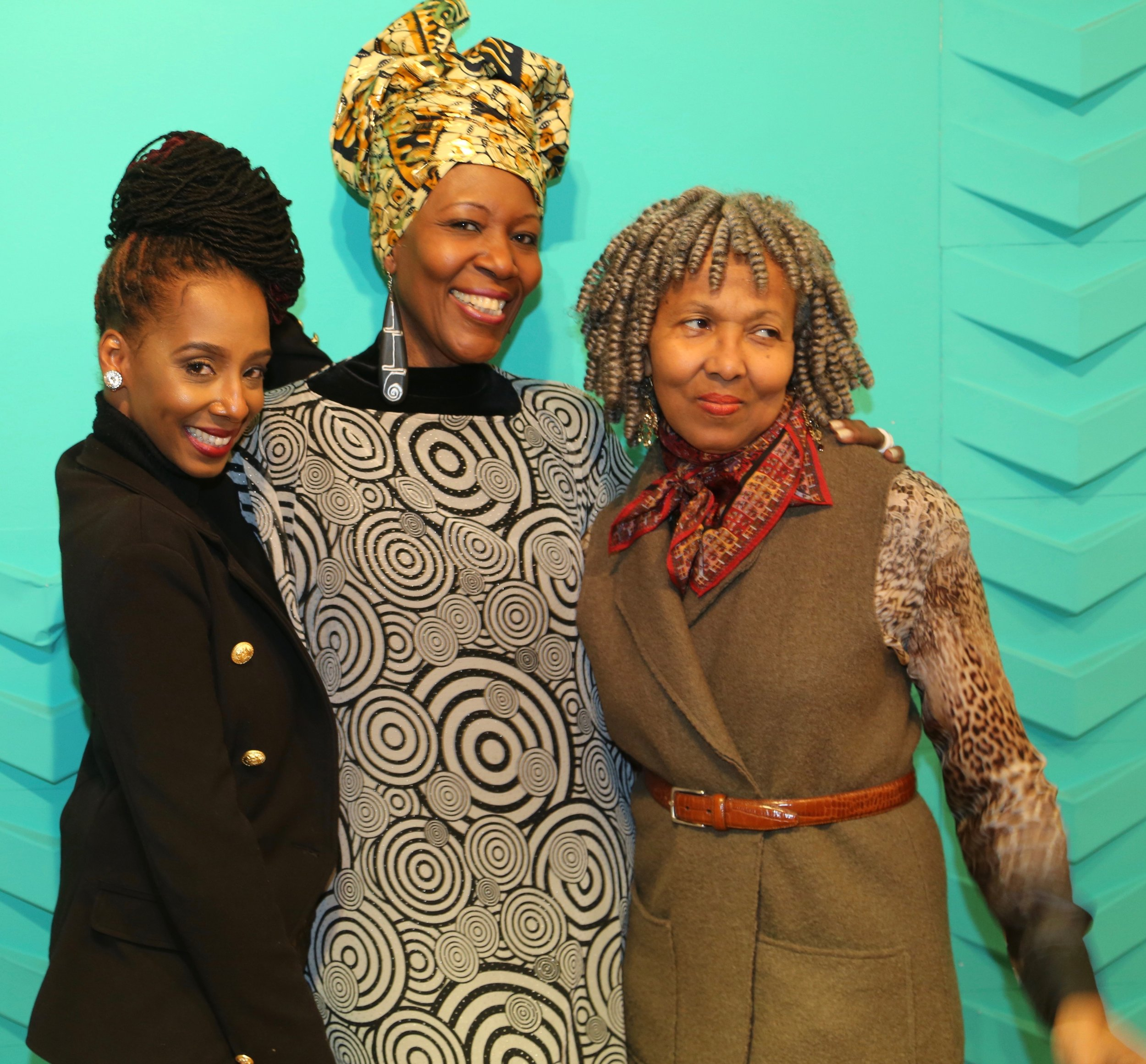 CAFE @ NYFW - JLC with designer OliviaB, Cayman Islands and Dianne Roberts, Esq.