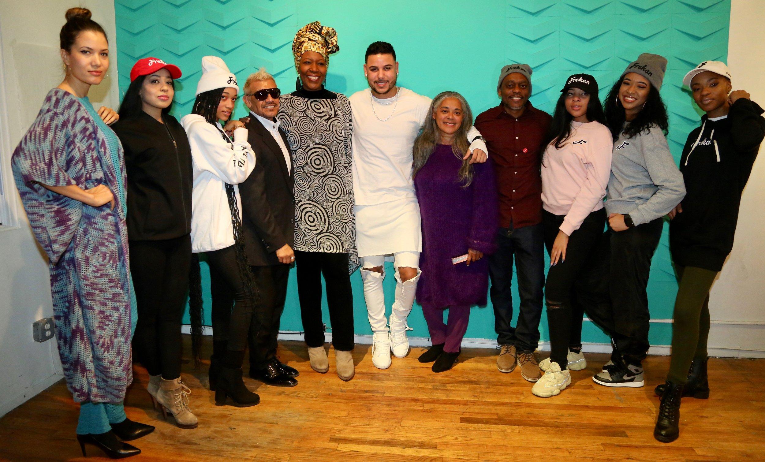 CAFE @ NYFW - with Fernando Bernierd, KLASS Santana and designers: Milagros Batista and Edwin Bellevue and models.