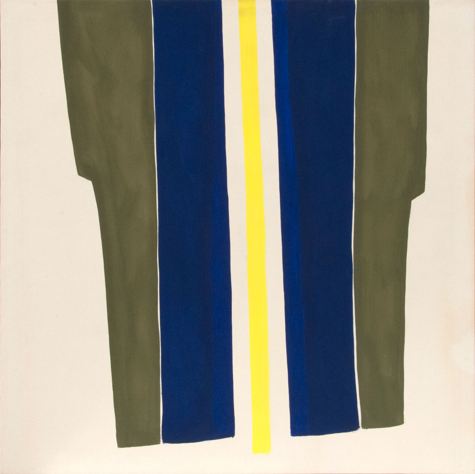 Clinton Hill  Untitled , c. 1960s acrylic on canvas 49 1/2 x 49 1/2 in (125.73 x 125.73 cm)