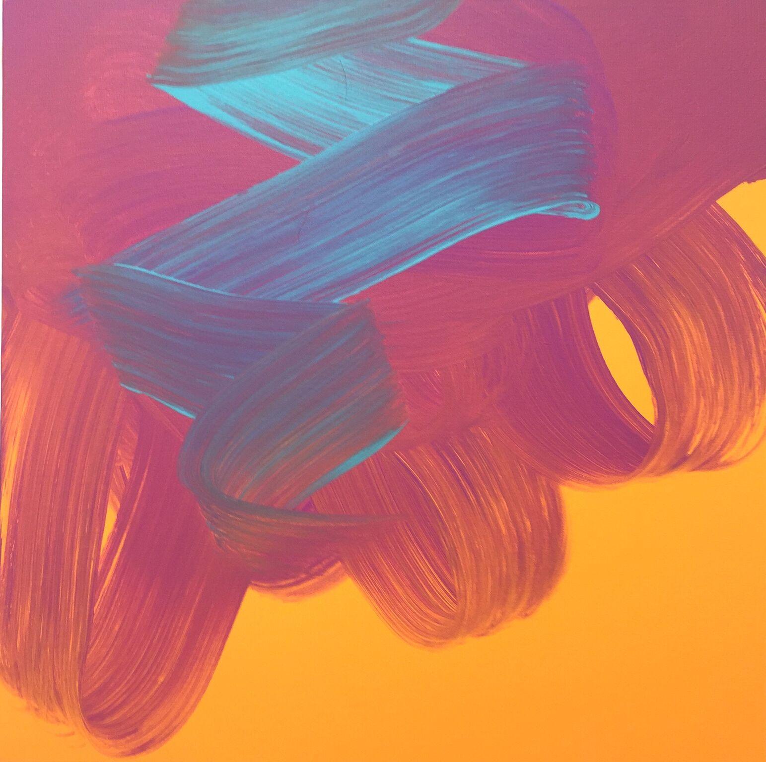 Jane Callister  Mad Sounds , 2017 Baroco-pop acrylic on canvas 24 x 24 in (61 x 61 cm)