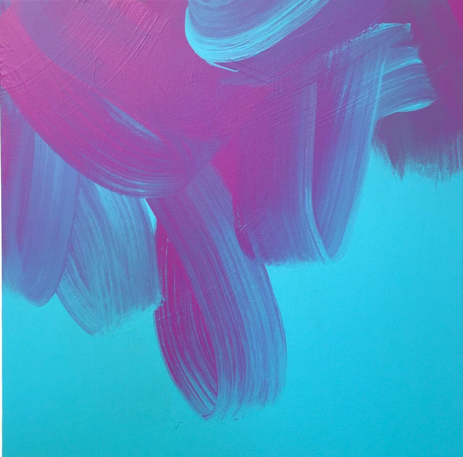 Jane Callister  Morning Sounds , 2017 Baroco-pop acrylic on canvas 24 x 24 in (61 x 61 cm)