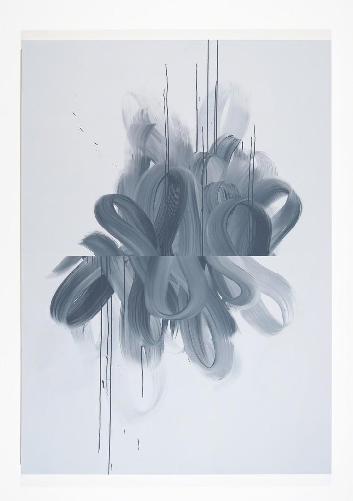 Jane Callister  Wave Vector , 2017 acrylic on canvas 84 x 60 in (213.4 x 152.4 cm)