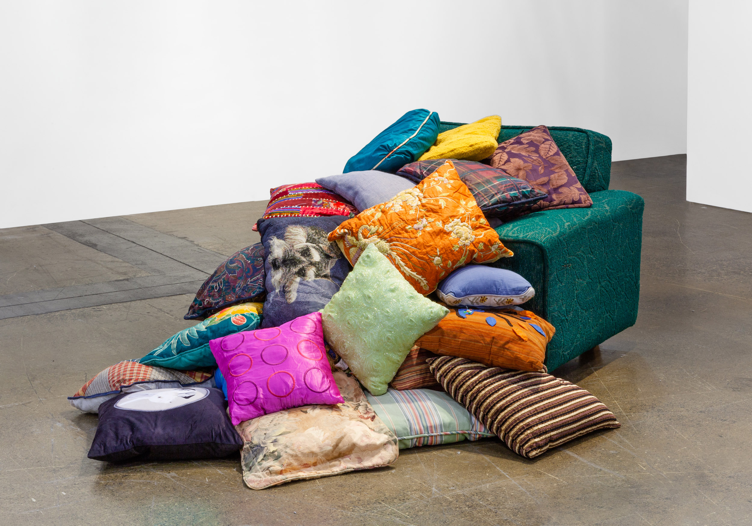 Ken Lum  Partially Buried Sofa , 1984/2018 Furniture Sculptures mixed media dimensions vary