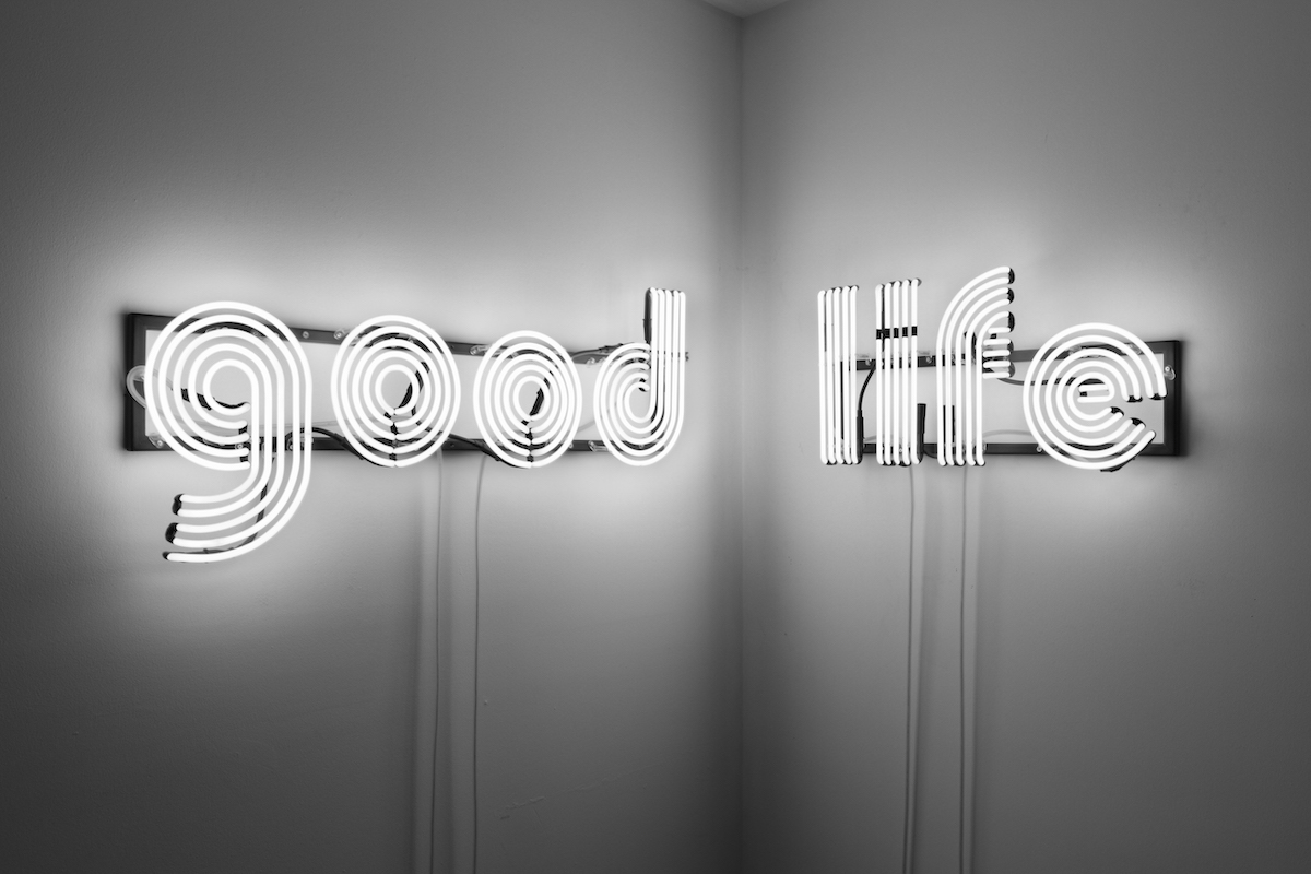 Kristin McIver  The Good Life , 2011 neon, steel 71 x 18 in (180.3 x 45.7 cm)