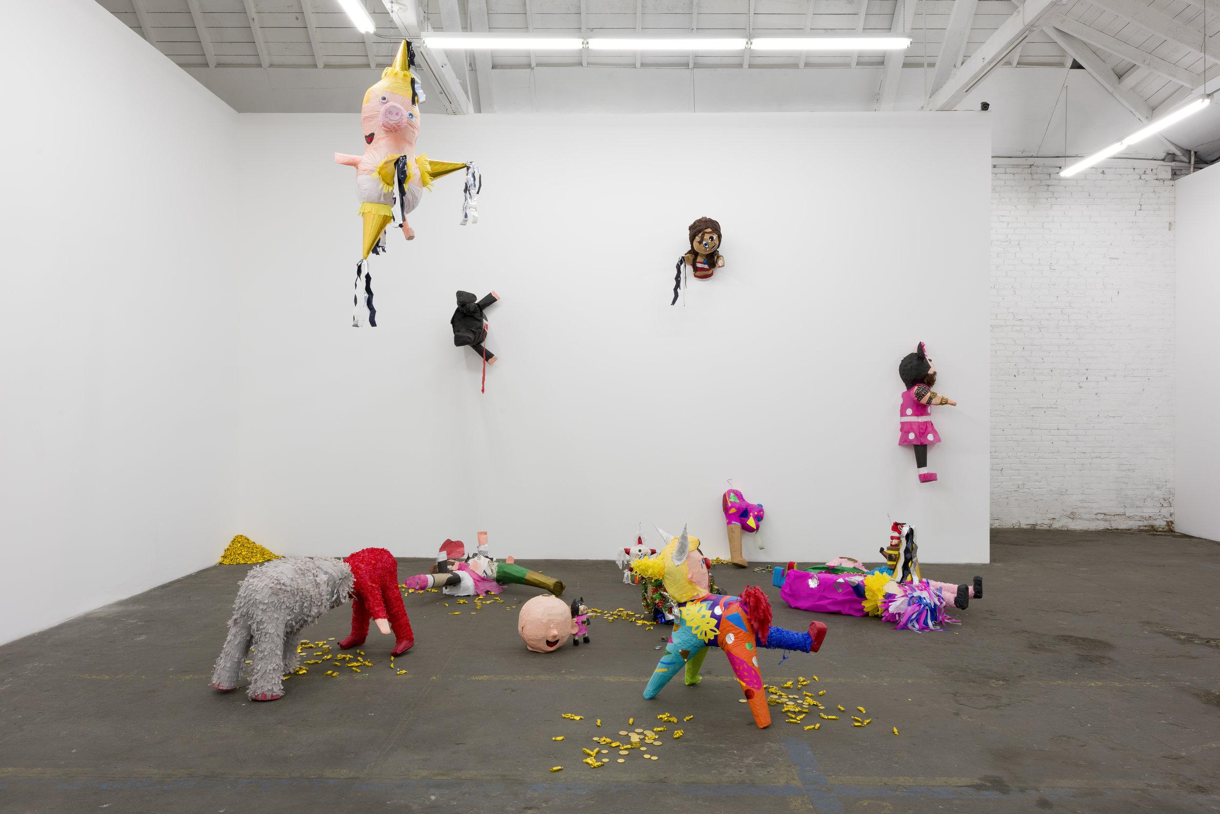 Rubén Ortiz Torres  Through the Wall , 2019 piñatas, full installation dimensions variable