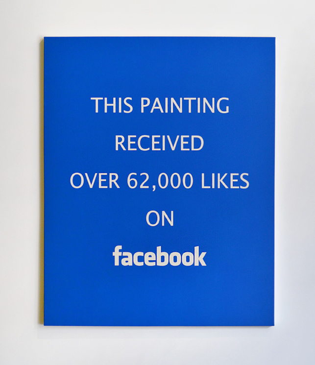 Alejandro Diaz  Facebook Likes , 2015 acrylic painting on canvas 60 x 48 in (152.4 x 121.9 cm)