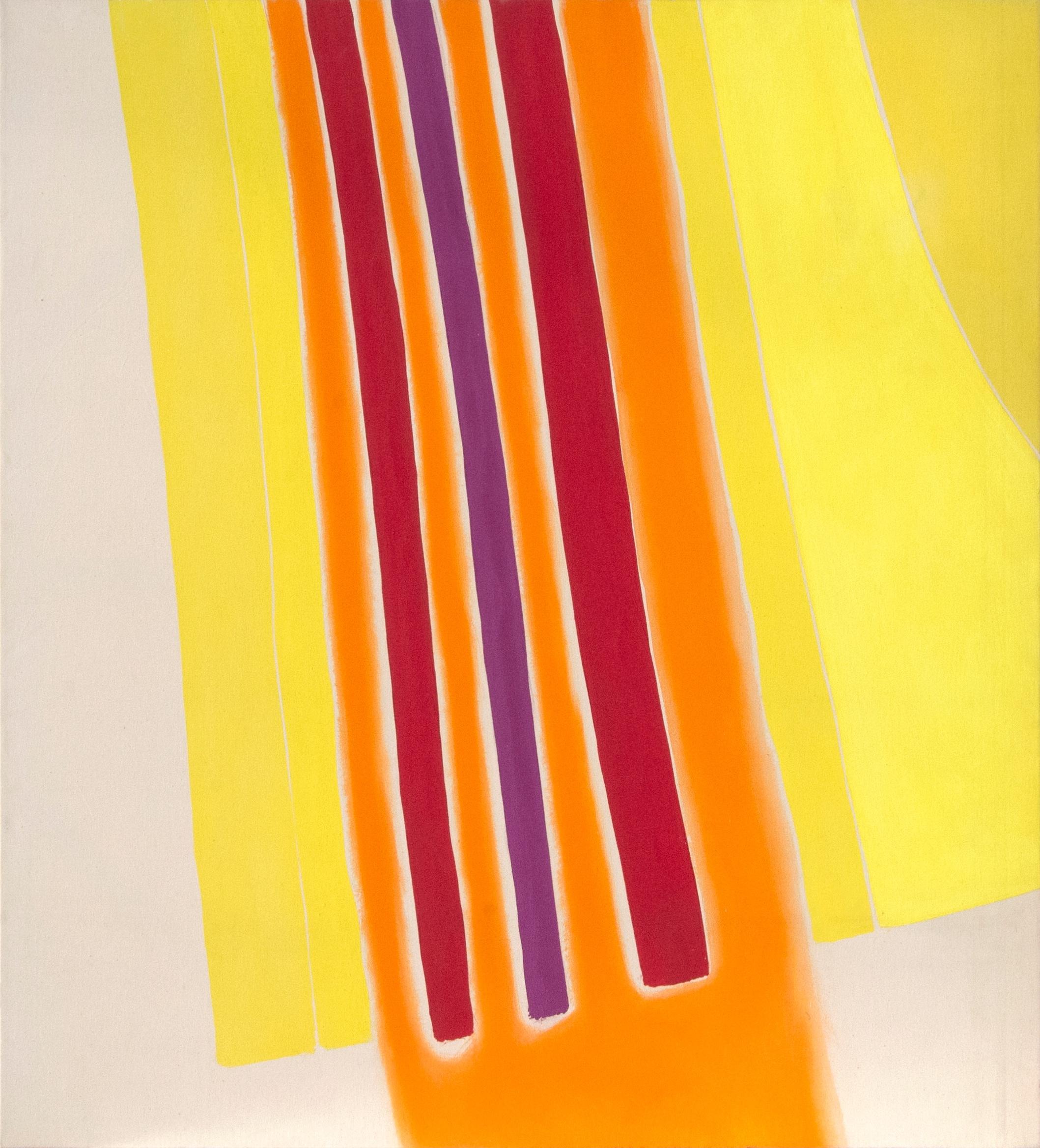 Clinton Hill  13 , 1965 acrylic on canvas 59 1/2 x 54 1/8 in (151.13 x 137.48 cm)