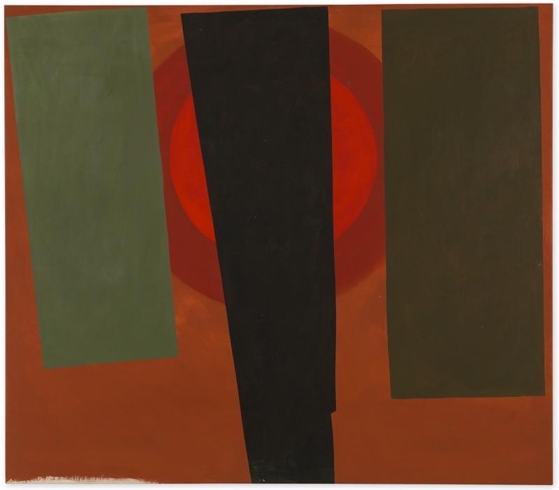 Clinton Hill  Untitled , 1964 acrylic on canvas 45 5/8 x 52 in (115.89 x 132.08 cm)