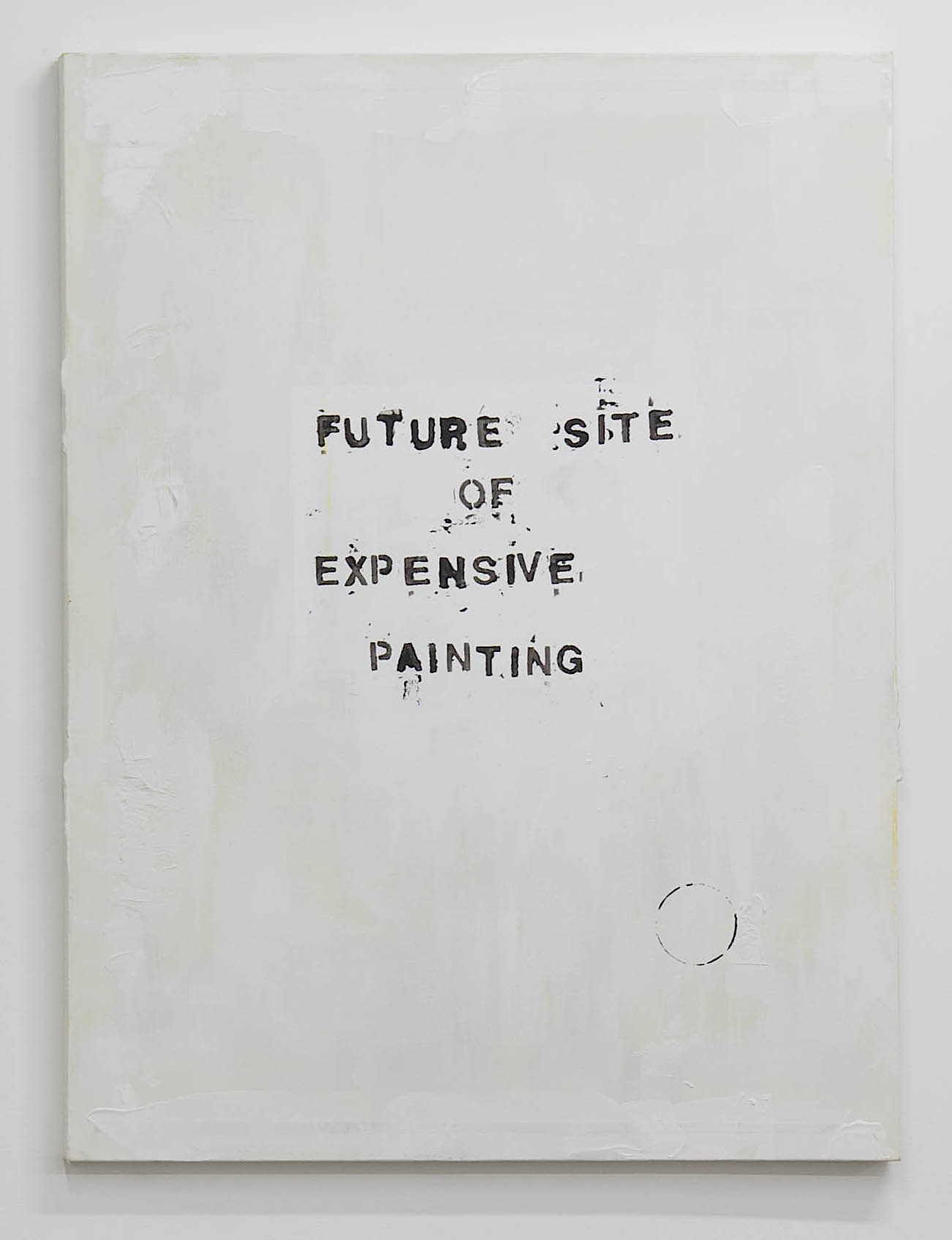Alejandro Diaz  Future Sight of Expensive Painting , 2014 acrylic on canvas 40 x 30 in (101.6 x 76.2 cm)