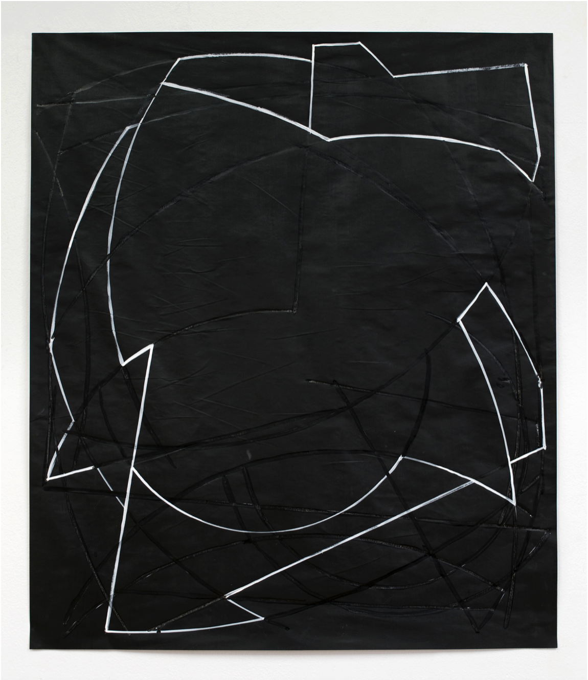 Jen Aitken  Untitled Drawing # 69 , 2018 ink and gesso on vellum 34 x 29 in (86.4 x 73.7 cm)