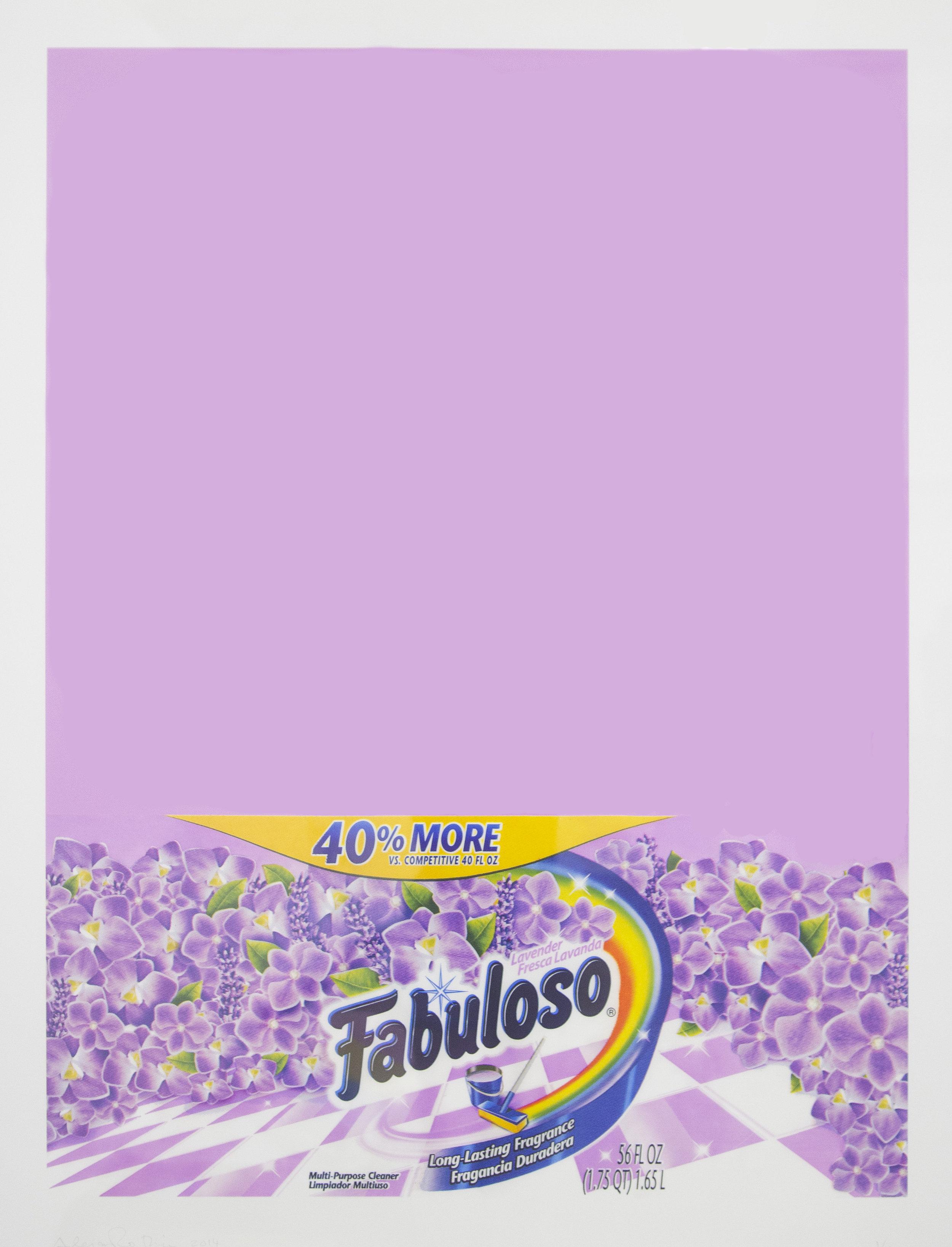 Alejandro Diaz  Fabuloso (Lavender) , 2014 giclee print on Hahnemuhle photo rag paper 42 x 36 in (106.7 x 91.4 cm)