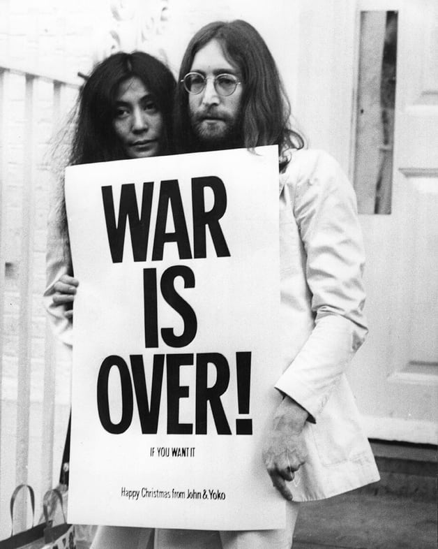 The message stays the same. ☮️❤️🎊