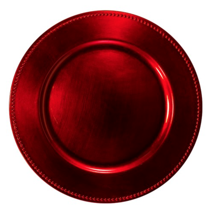 Red Acrylic Charger