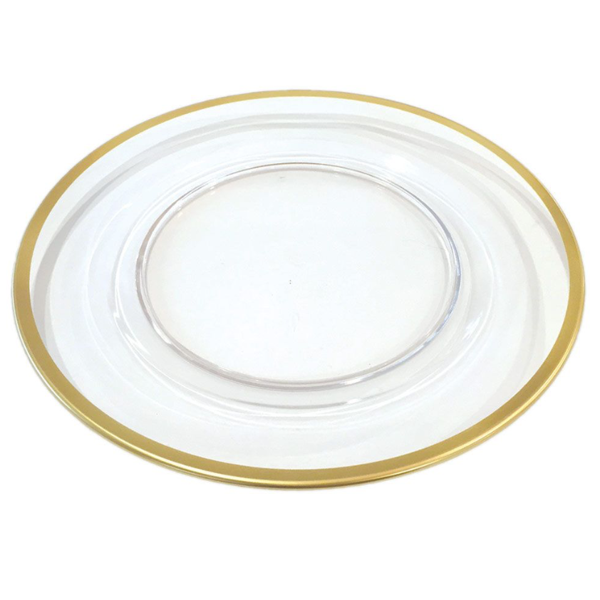 Gold Rimmed Glass Charger