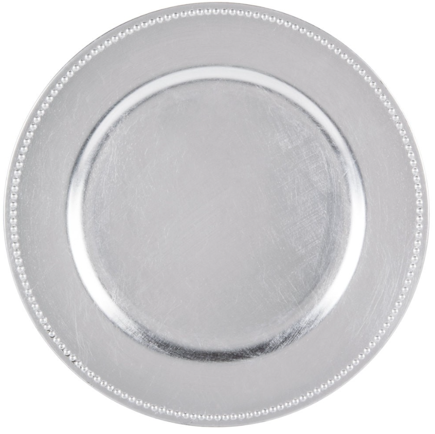 Silver Acrylic Charger