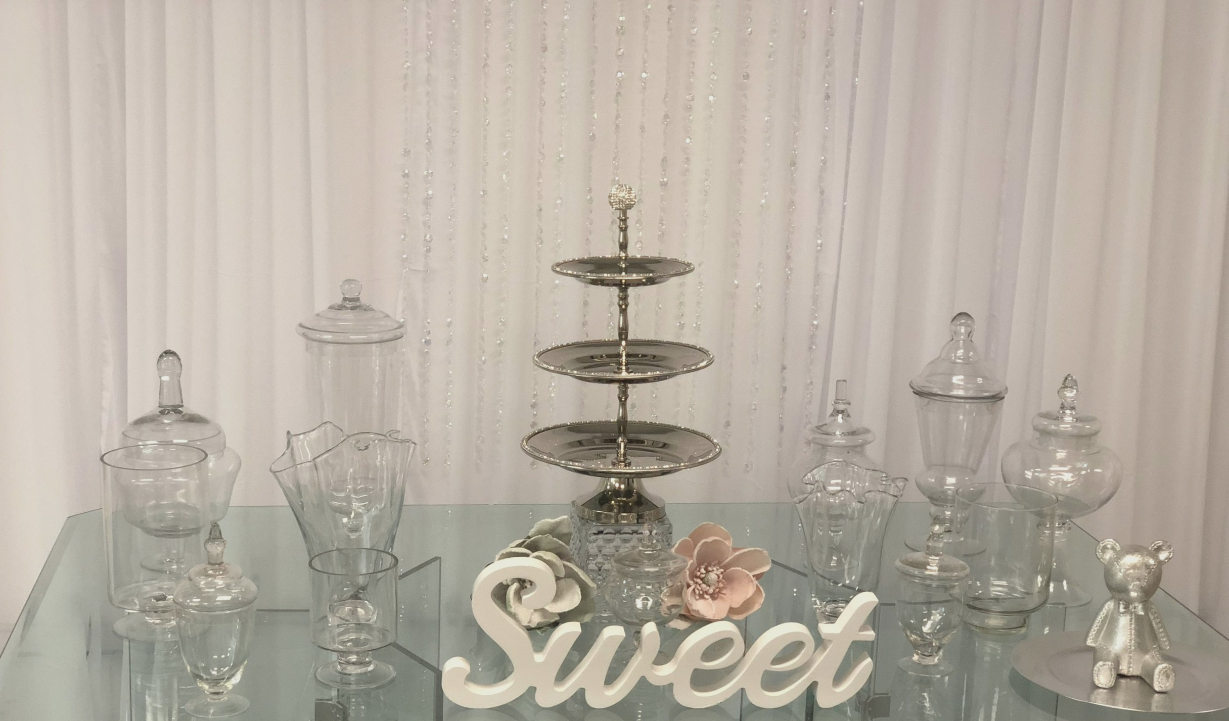 Clear Glass Table  Glass Candy Jars