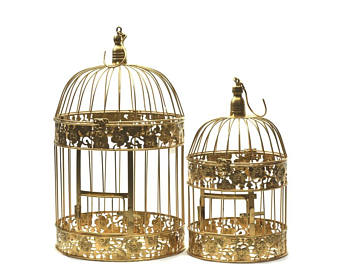Gold Bird Cages