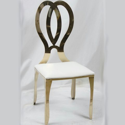 Gold Channel Stainless Steel Chair