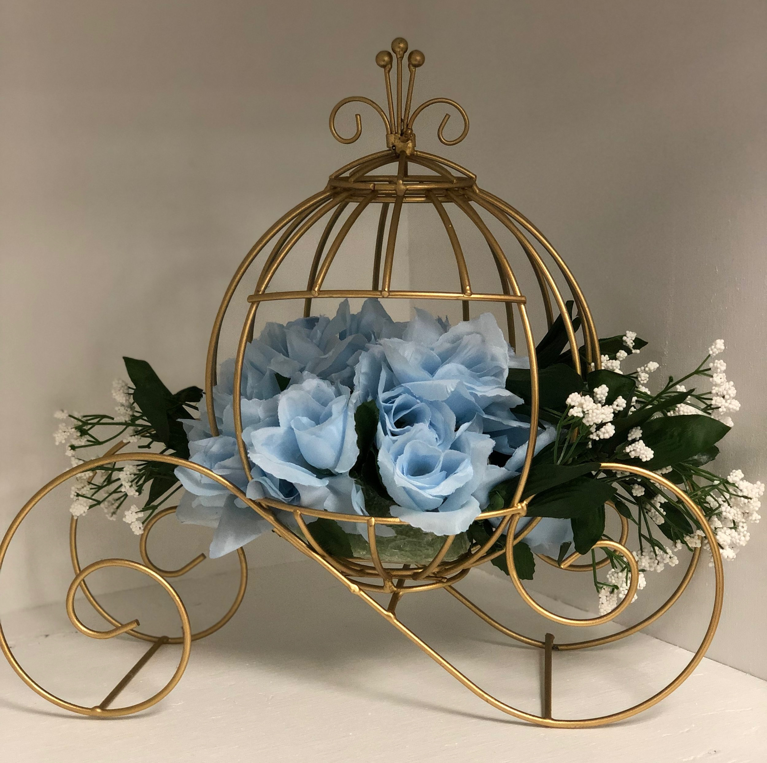 Cinderella Carriage  White or Gold available
