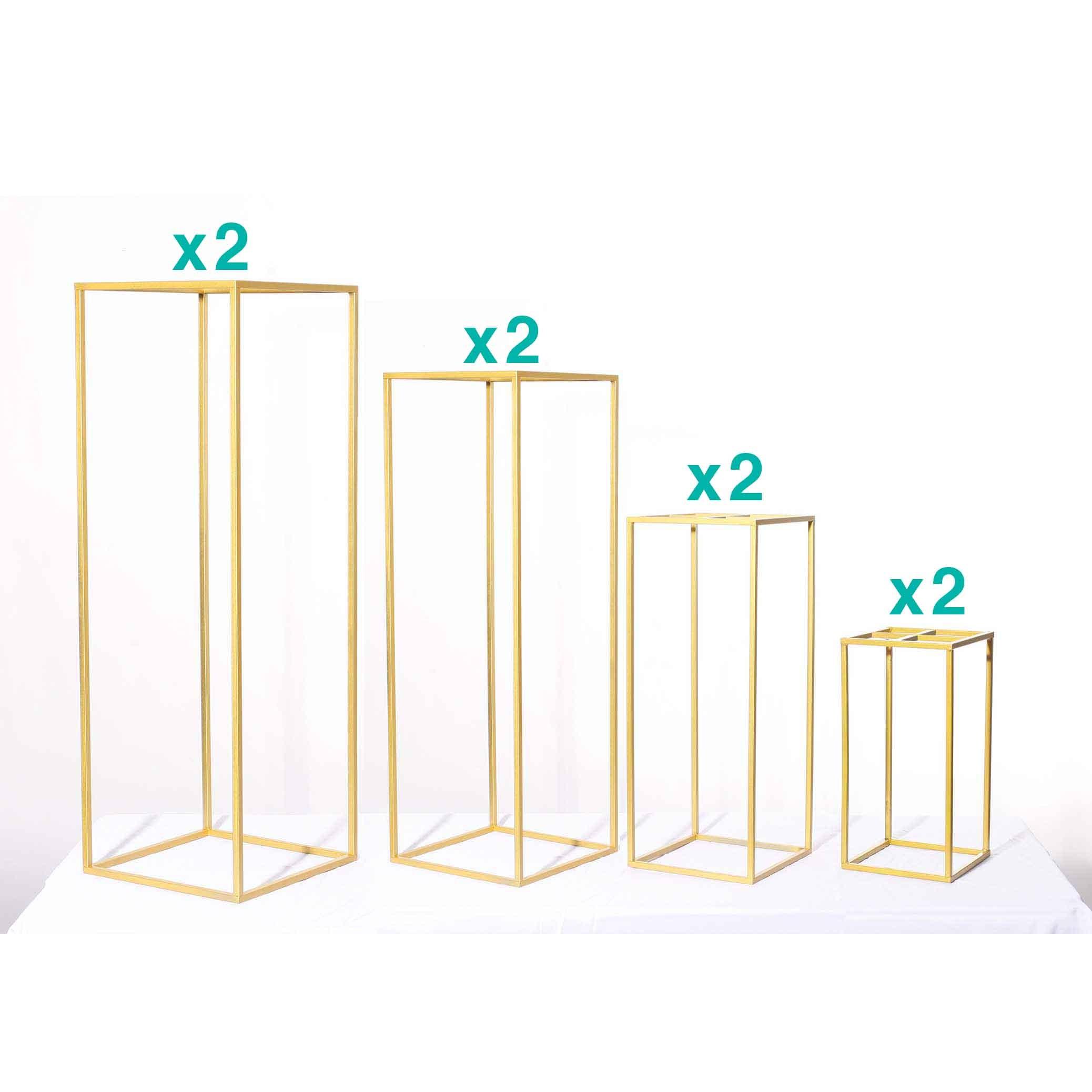 Gold Pedestals 4ft, 3ft, 2ft, 1ft
