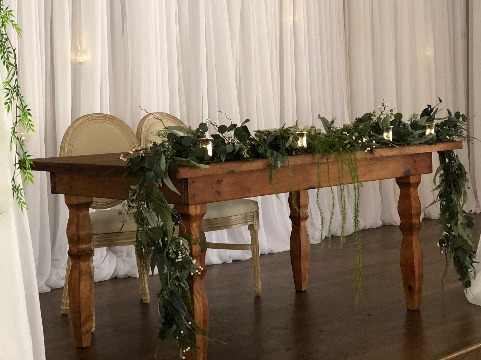 6ft Rustic Wood Table