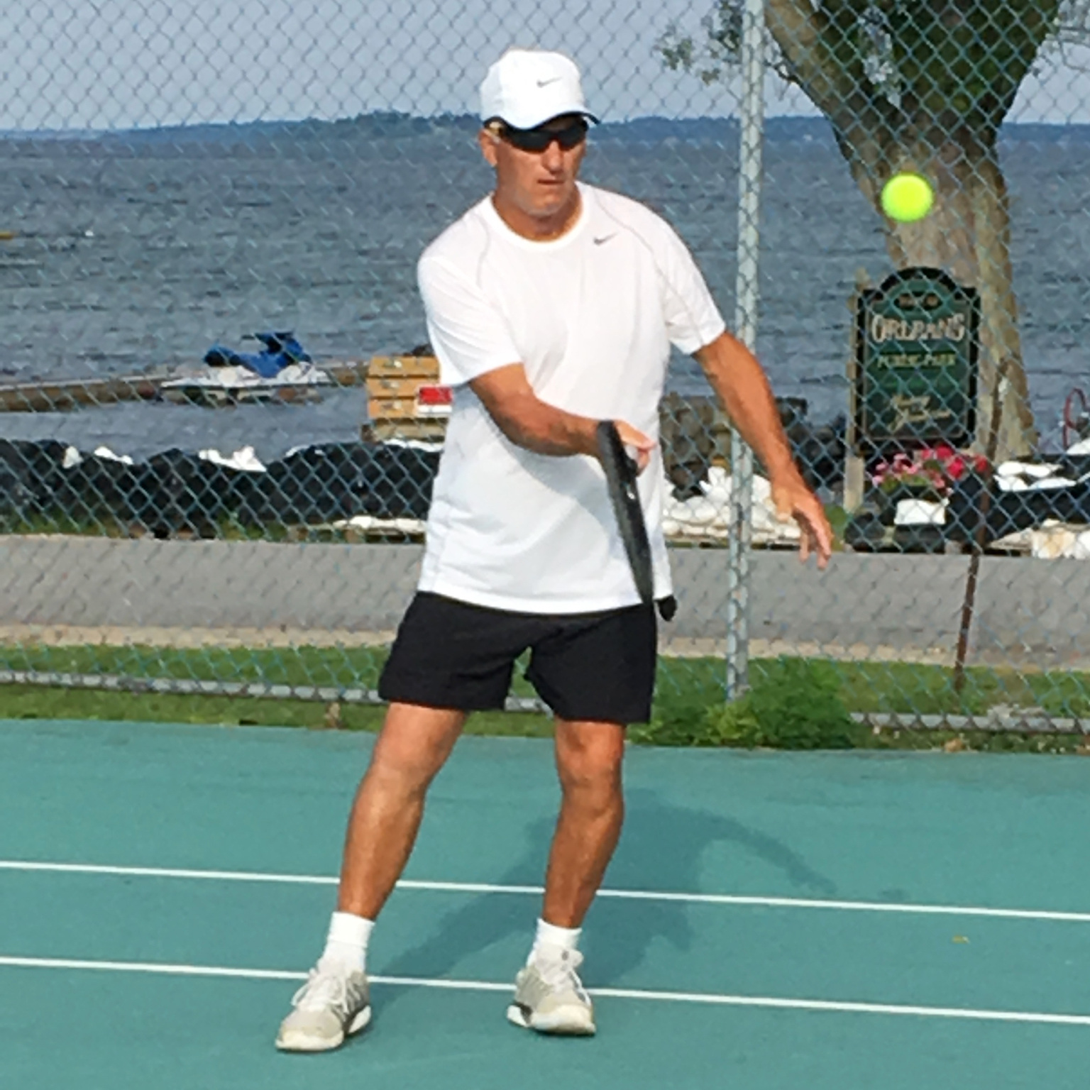 Brian continues to play high-level tennis after back surgery and a knee replacement