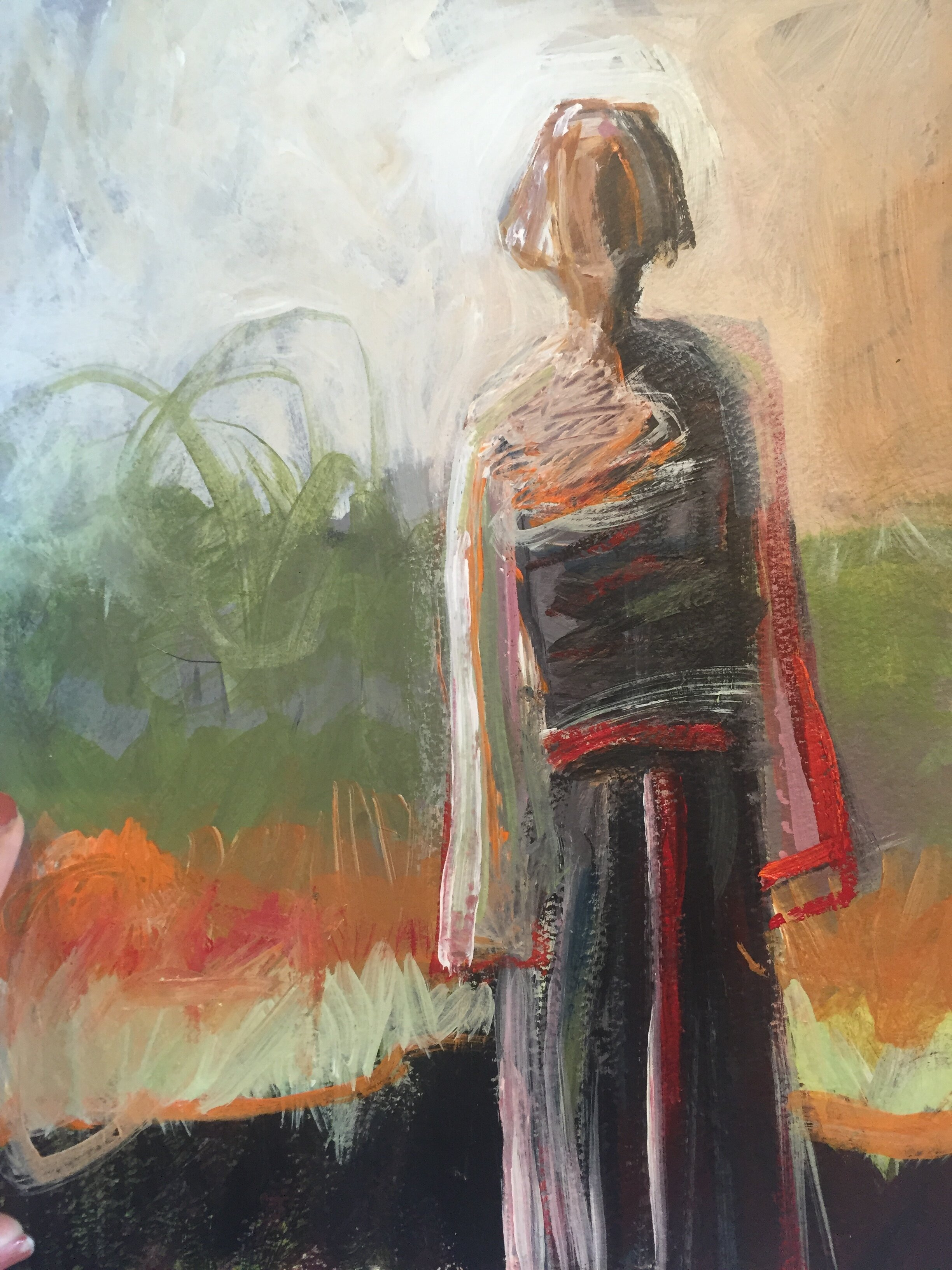 Missing You_mixed-media-on-unstretched-canvas_11 x 14on-20-x-16-inch-mat