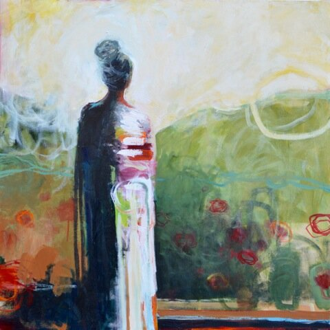 Garden of Solitude_Mixed Media on Canvas_36 x36 inches_ SOLD
