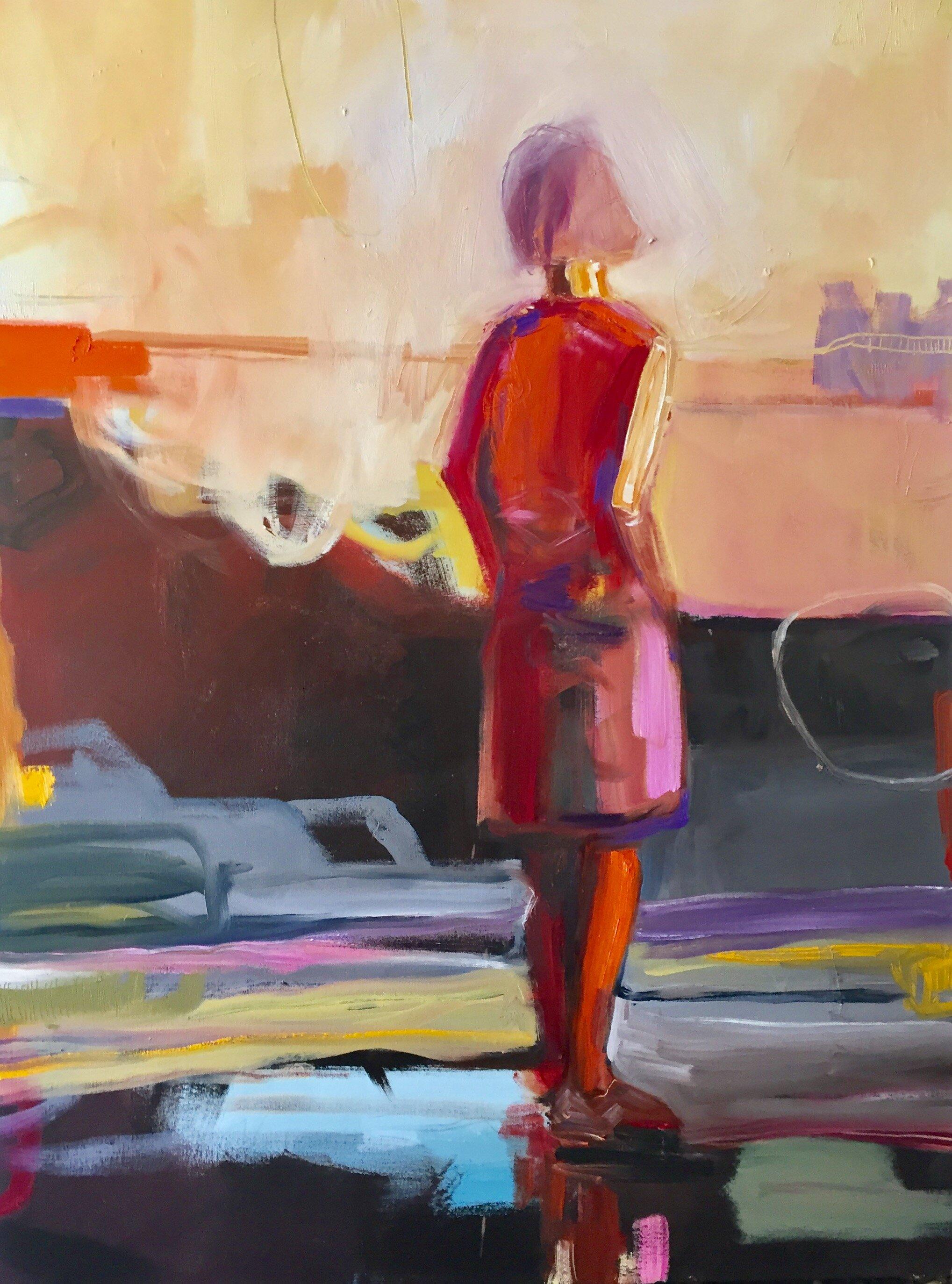 Summer Rain_ Oil on Canvas_48 x 36 inches_