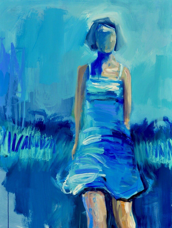 Rushing Upwards_Acrylic on Canvas_48 x 36 inches