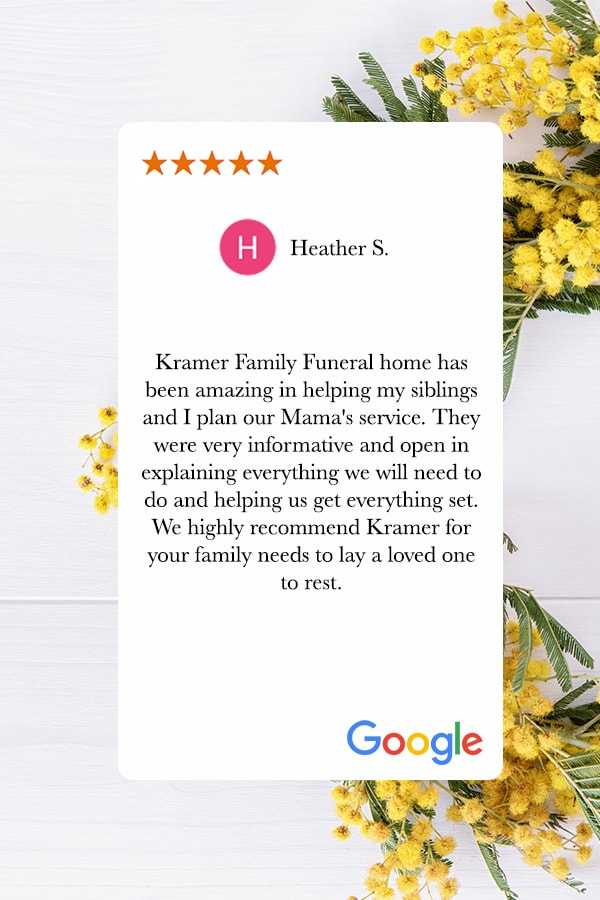 kramer cremation and funeral reviews