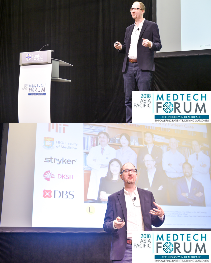 Speaker at APACMed's 2018 MedTech Forum Asia - 09 October 2018 SINAGPORE — APACMed - the leading association for the medical device industry in the Asia-Pacific region - selected Lifespans as an SME member of the organization to give a 30 minute presentation on our work and plans for the future. Alongside leading medtech startups from across APAC, keynote speakers at the event included the global leadership of Stryker (Kevin Lobo), Johnson&Johnson (Ashley McEvoy), and several other market leaders.