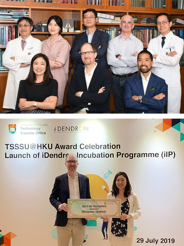 Lifespans wins competitive tech startup grant - 29 July 2019The University of Hong Kong selected Lifespans for a third year of grant funding through their highly selective Technology Startup Support Scheme (TSSSU), bringing the total funds won by Lifespans through this programme to HK$1.7m (US$225,000) over three years.* HKU press release* List of winners for 2019-20