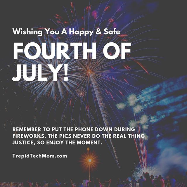 🇺🇸 Happy Fourth of July! Wishing you all a happy and safe holiday. And a friendly reminder to put the phone down during fireworks. The pics never do the real thing justice, so enjoy the moment. #fourthofjuly #4thofjuly #childhoodunplugged #dadlife #dailyparenting #digitalparenting #fatherhood #digitalfootprint #fatherhoodunplugged #letthembelittle #MomLife #Motherhood #MotherhoodUnplugged #parenting #ParentLife #Parents #raisingthefuture  #SocialMedia #trepidtechmom #UnpluggedChildhood #modernparenting #momsofinstagram #screentime #parentingtips