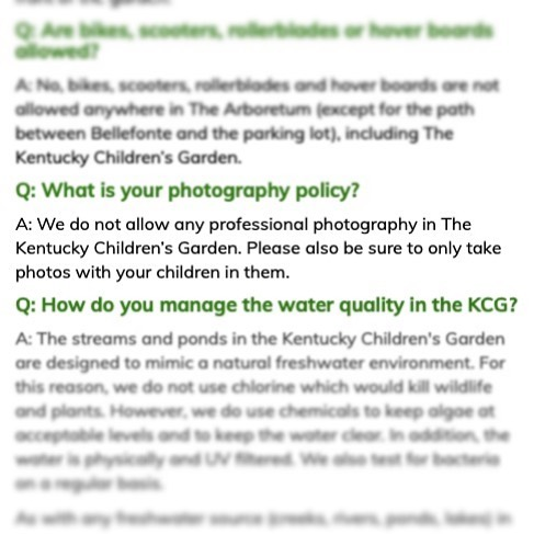 """I ❤️ this. Someone recently sent me this FAQ """"Photo Policy"""" from the Kentucky Children's Garden. Wherever our family fun takes us this summer—and beyond—may we all be mindful of the faces that are in our smartphone lenses. And thank you, @ukagriculture for helping guests to be safe and thoughtful digital citizens!  #childhoodunplugged #dadlife #dailyparenting #digitalparenting #fatherhood #digitalfootprint #fatherhoodunplugged #letthembelittle #MomLife #Motherhood #MotherhoodUnplugged #parenting #ParentLife #Parents #raisingthefuture  #SocialMedia #trepidtechmom #UnpluggedChildhood #modernparenting #momsofinstagram #screentime #parentingtips"""