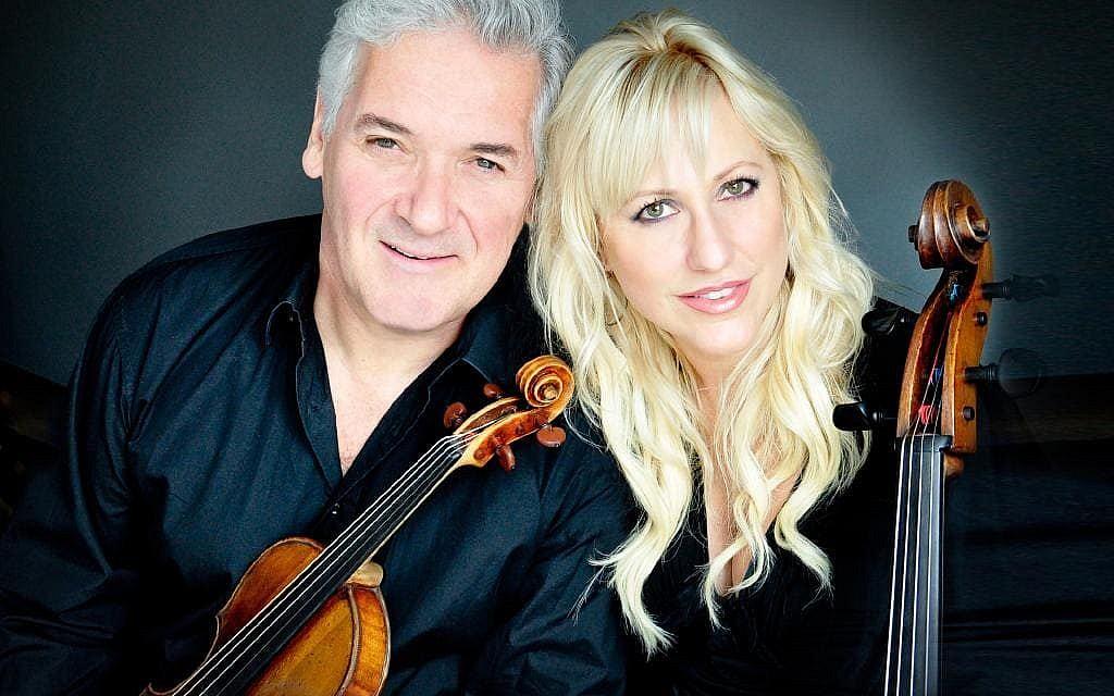 Violinist Pinchas Zukerman and cellist Amanda Forsyth. (Cheryl Mazak)