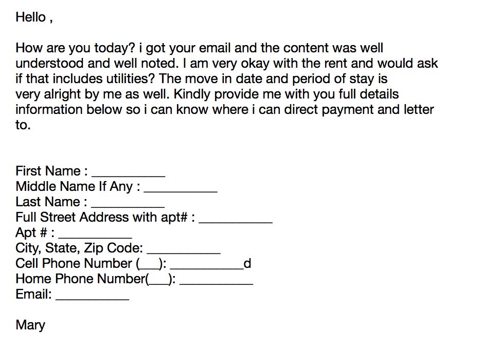 EXAMPLE OF PHISHING E-MAIL