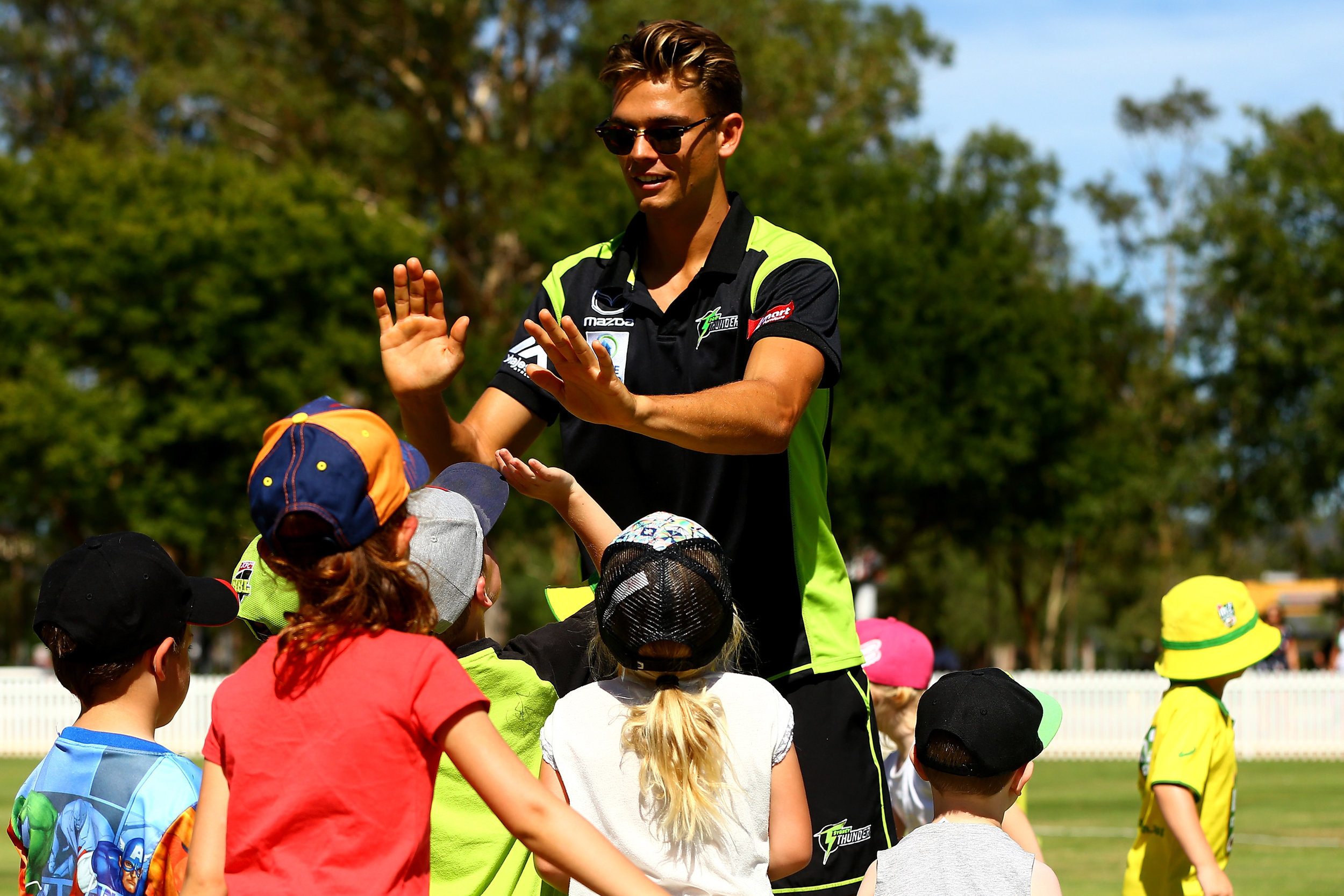 PENRITH, AUSTRALIA - JANUARY 18:  General scenes during the Sydney Thunder Super Clinics at Howell Oval on January 18, 2018 in Penrith, Australia. @ThunderWBBL @ThunderBBL @SydneyThunder #thundernation #superclinics  (Photo by Jeremy Ng/www.jeremyngphotos.com for Sydney Thunder)