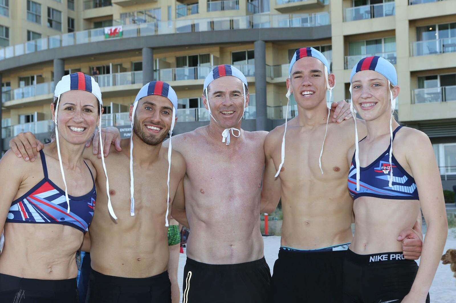 Jock with 4 of his World Champions from the 2018 Surf Lifesaving World Titles, where out of the 8 endurance running events staged for opens and youths, Jock's athletes won them all. A feat that has never been achieved before.