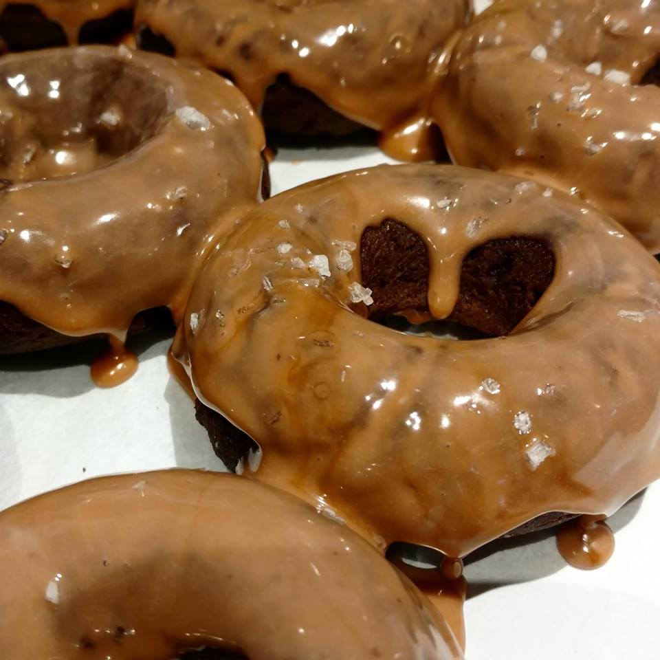 Donuts - Chocolate Frosted RainbowCoffee CakeBlueberry CobblerChocolate Salted Caramel Pretzel